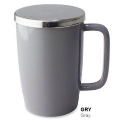 Mug, Infuser Dew 18 oz. Gray