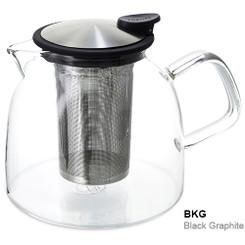 Teapot, Glass Bell 43oz (Black Graphite)