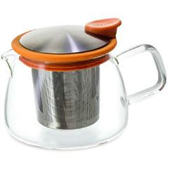 Teapot, Glass Bell 14oz (Mandarin Orange)