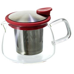 Teapot, Glass Bell 14oz (Red)