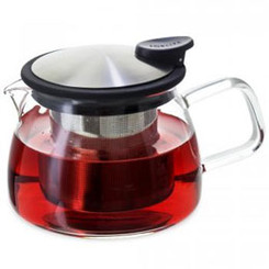Teapot, Glass Bell 24oz (Black)