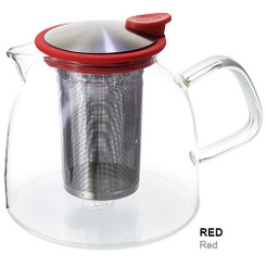 Teapot, Glass Bell 43oz (Red)