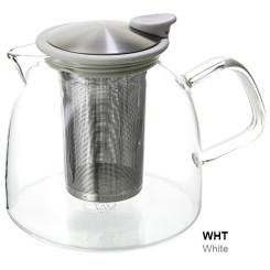 Teapot, Glass Bell 43oz (White)