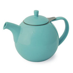 Teapot, Curve 45oz. (Turquoise)