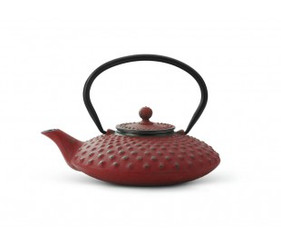 Cast Iron Teapot, 27 FL.OZ Red JANG