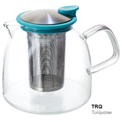 Teapot, Glass Bell 43oz (Turquoise)