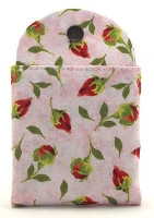 "Tea Wallet - to take your favorite tea to-go.  Holds six t-sacs pre-filled with loose tea or six tea bags.  High quality cotton fabric Made in New Hampshire Six slots for tea, plus four slots for sweeteners Your tea is held securely in the wallet with a strong snap Measures 3""x 5"" when folded closed The attractive and tidy replacement for that plastic zip-lock baggie in the bottom of your bag! EVERY tea lover needs one, every tea lover wants one!"