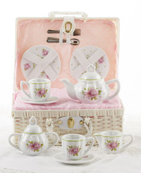 Childrens Tea Set, Pink Rose