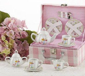 Childrens Tea Set, Pink Dinosaur