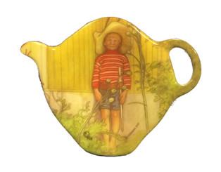 Tea Bag Holder, Boy Hiding