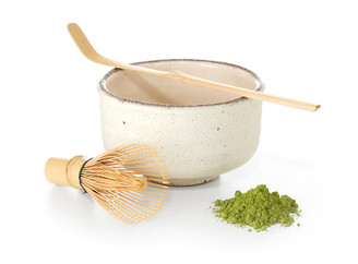 Set, Japanese Matcha 3 piece (ivory color)