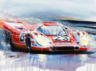 Porsche 917k at Le Mans 1970 - Limited Edition Print