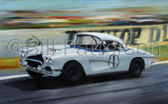Corvette at Le Mans 1963 - Limited Edition Prints