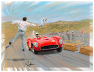 The cover/poster art from the 2017 Rolex Monterey Motorsports Reunion produced as a limited edition of only 60 pieces! The image was selected to celebrate the 60th year of the great Mazda Raceway Laguna Seca!