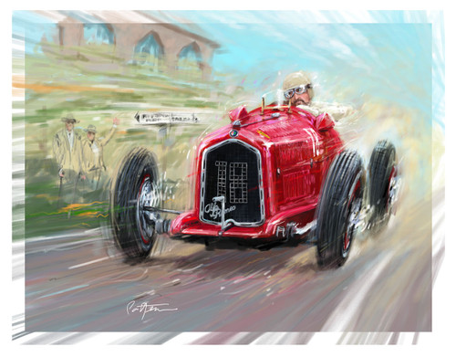 The Alfa P3 was raced in the mid-1930s by a number of that eras greats. Interestingly it was the car and race team that Enzo Ferrari ran for  Alfa, branded as the first of the Scuderia Ferrari cars. He and his engineers reworked major components of the car before starting with their own creations in the 40's