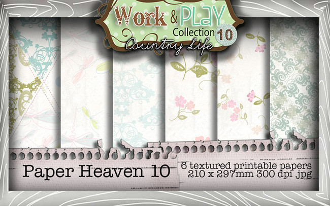 Work & Play 10 Collection - Paper Heaven 10 Digital Craft Download Bundle