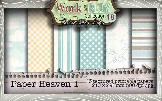 Work & Play 10 Collection - Paper Heaven 1 Digital Craft Download Bundle