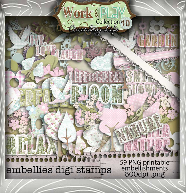 Work & Play 10 - Embellies Digital Craft Download Bundle