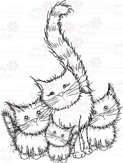 Cat/kittens Digital Stamp - Digital Craft Download