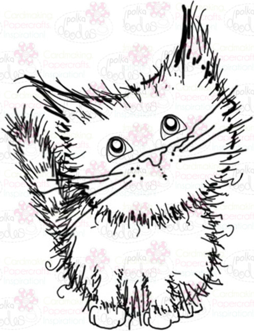 Cat/kitten Digital Stamp - Digital Craft Download