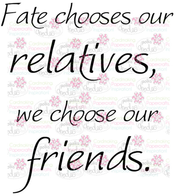 Fate chooses Friends sentiment downloadable digital stamp