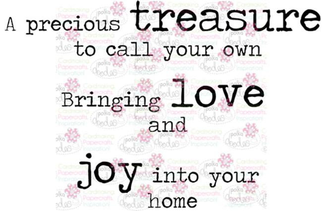 Treasure Love Joy sentiment downloadable digital stamp