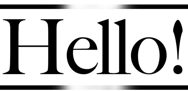 Hello - printable Digital Stamp free download