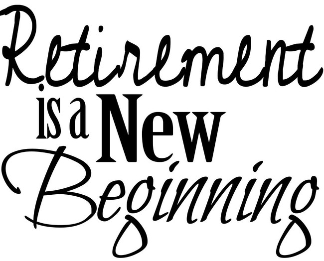 Reirement is a new beginning - printable Digital Stamp free download