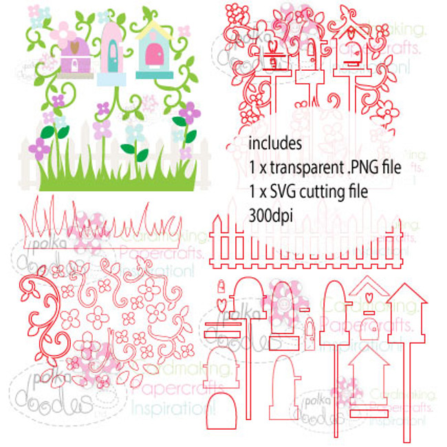 Birdhouse Row Cutting File download