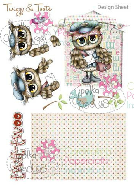 Twiggy & Toots Digital Craft Download - Design Sheet 2