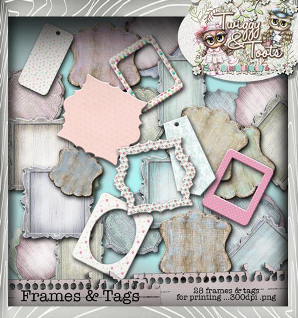 Twiggy & Toots Frame It bundle - Digital Craft Download