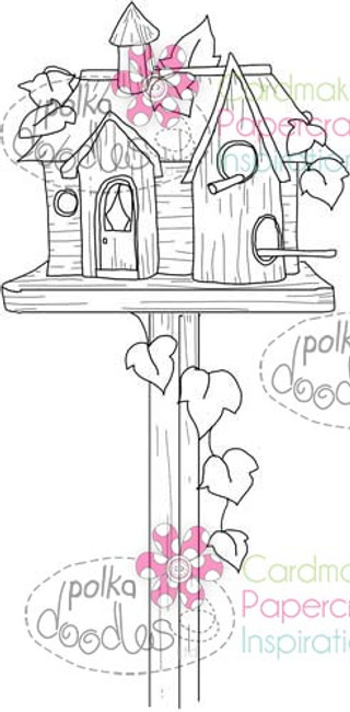 Beautiful Birdhouse 2 Digital Stamp Craft Download