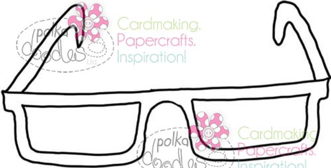 Spectacles, Glasses Digital Stamp Craft Download
