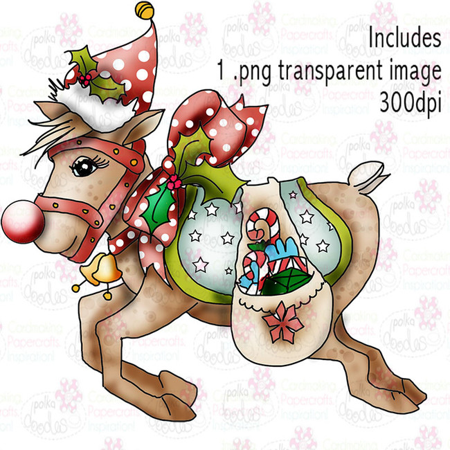 Rudolph - Twiggy & Toots - Digital Craft Stamp Download