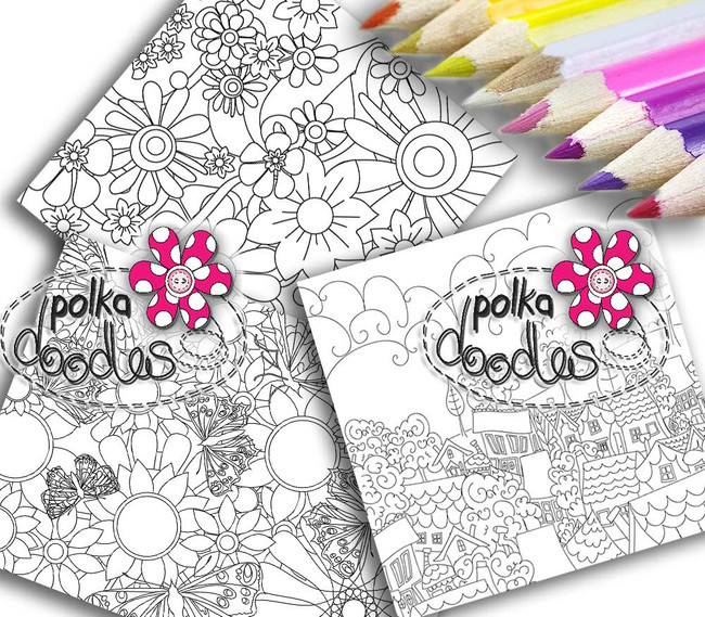 Adult Colouring pages bundle 9 - Downloadable Adult printable Colouring Book Pages