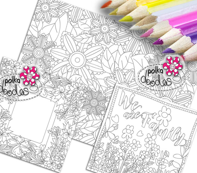 Adult Colouring pages bundle 17 - Downloadable Adult printable Colouring Book Pages