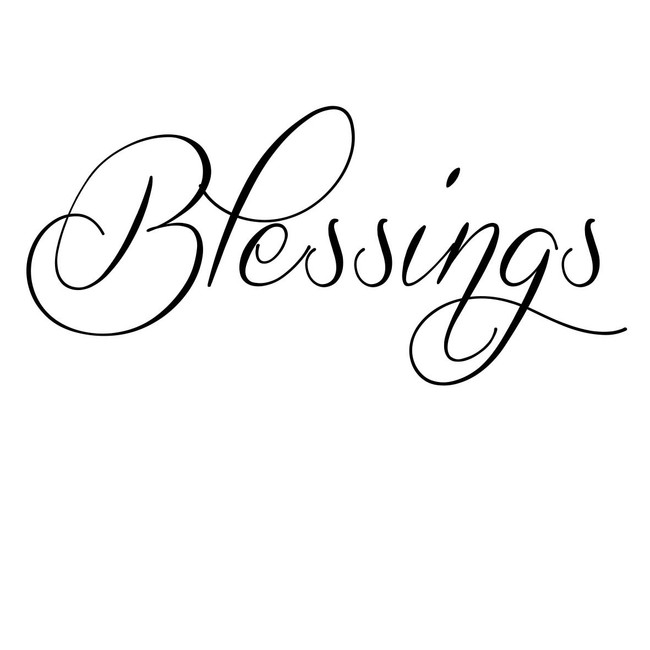 Blessings - Sentiment download printable