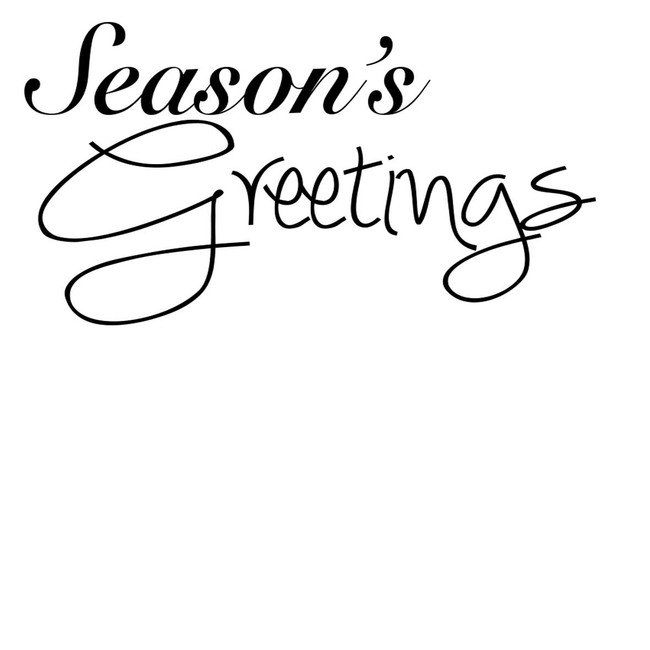 Seasons Greeting - Sentiment download printable digital stamp