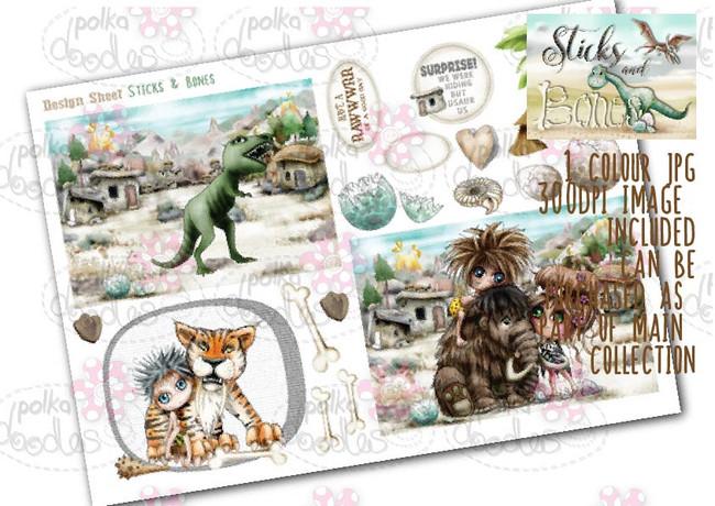 Sticks & Bones - Design Sheet 3  - Digital CRAFT Download