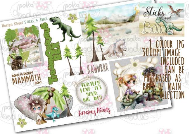 Sticks & Bones - Design Sheet 8  - Digital CRAFT Download