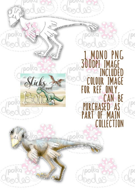Sticks & Bones - Dinosaur 3 - Digital Stamp CRAFT Download