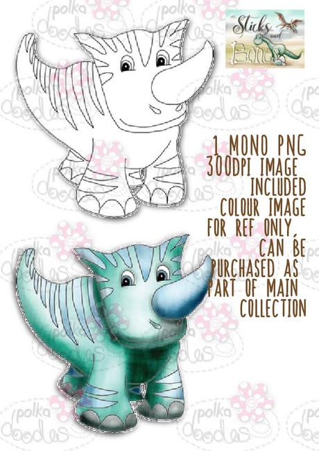 Sticks & Bones - Dinosaur 5 - Digital Stamp CRAFT Download