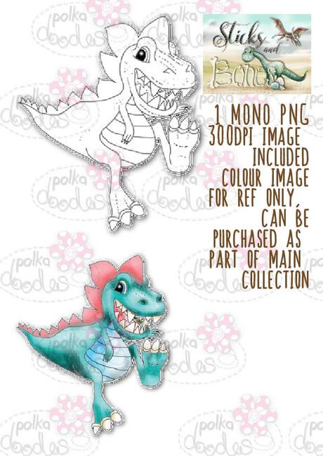 Sticks & Bones - Dinosaur 6 - Digital Stamp CRAFT Download