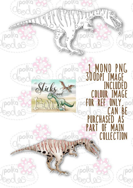 Sticks & Bones - Dinosaur 7 - Digital Stamp CRAFT Download