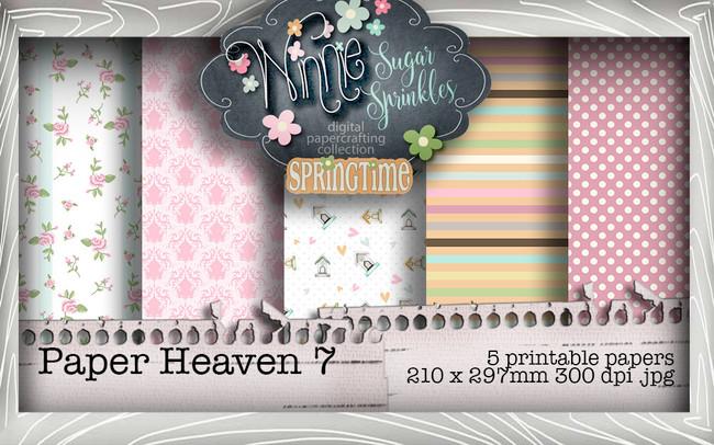 Winnie Sugar Sprinkles Paper Heaven 7 Bundle - Printable Crafting Digital Stamp Craft Scrapbooking Download