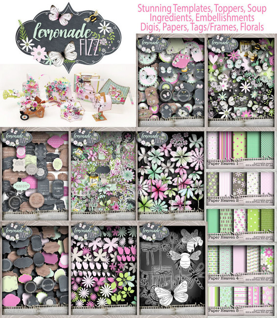 Lemonade Fizz Printables Download Craft & Scrapbooking Collection