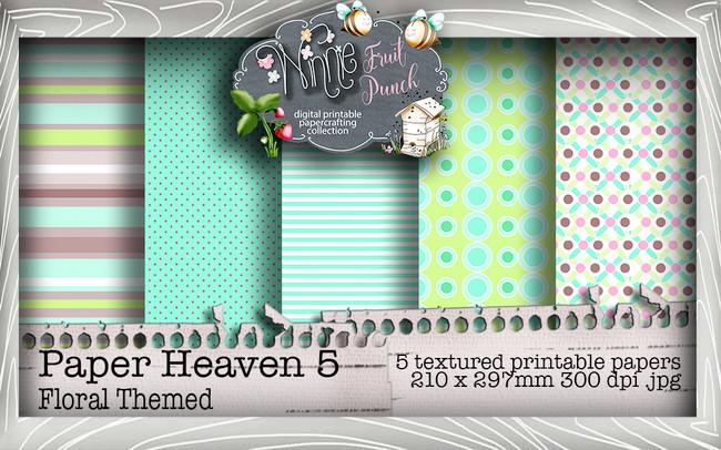 Winnie Fruit Punch Paper Heaven 5 Bundle - Printable Crafting Digital Stamp Craft Scrapbooking Download