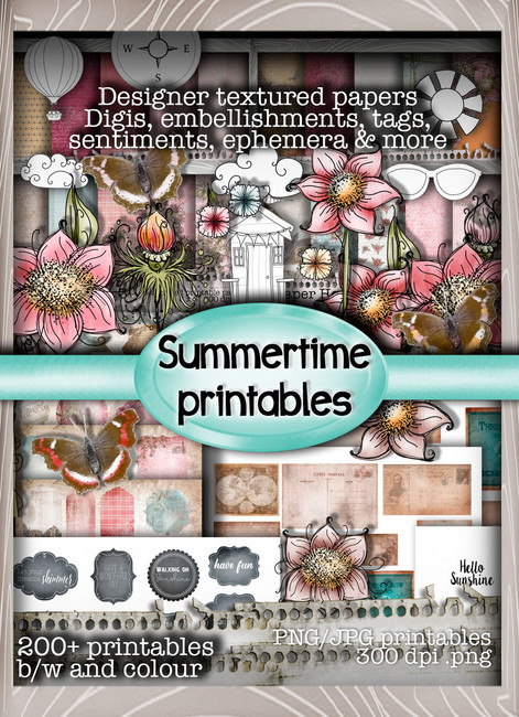 Summertime -  Downloadable Printable CD-rom