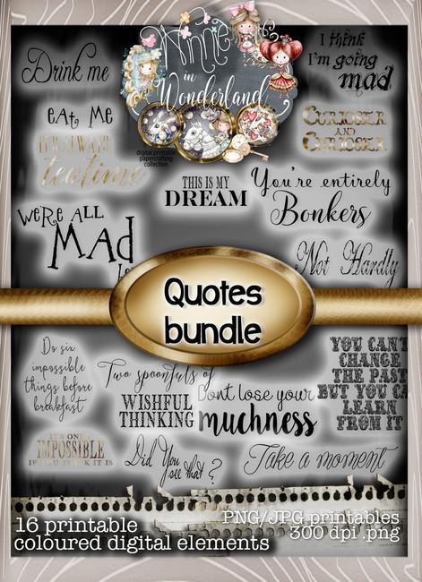 Winnie Wonderland Quotes - Printable Digital download