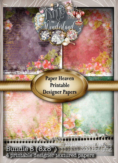 Winnie Wonderland Paper Heaven 8 - Printable Digital download